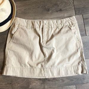 Gap Favorite Chino Khakis  Mini Skirt 12